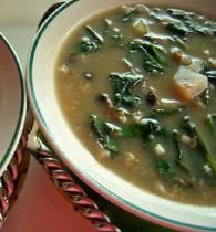 Грибной суп с овощами и шпинатом   bulony i supy